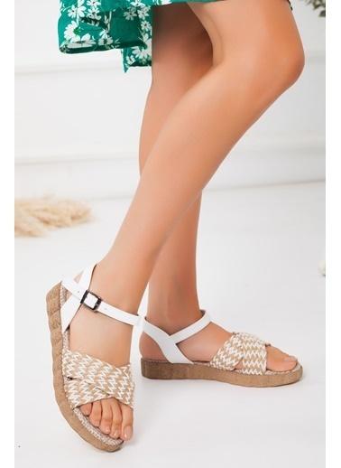 Derithy Cosy Sandalet-Ten-Abn0720 Beyaz